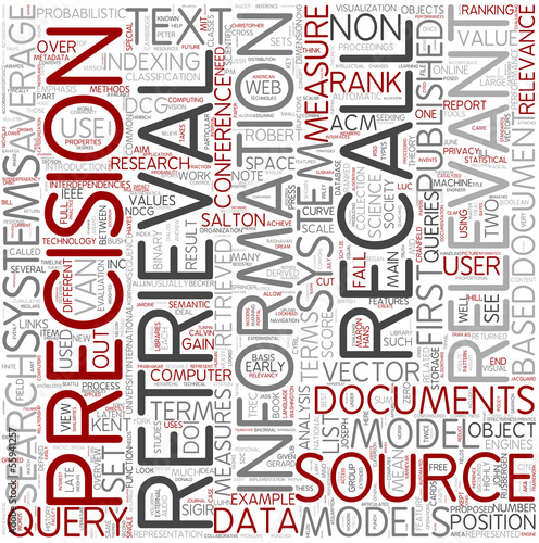 Information retrieval Word Cloud Concept