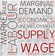 Labor economics Word Cloud Concept