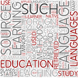 Language education Word Cloud Concept