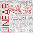 Linear programming Word Cloud Concept