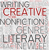 Literary journalism Word Cloud Concept poster