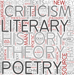 Literary criticism Word Cloud Concept