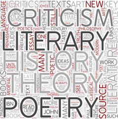Literary criticism Word Cloud Concept