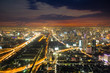 City skyline in night ,Bangkok,Thailand
