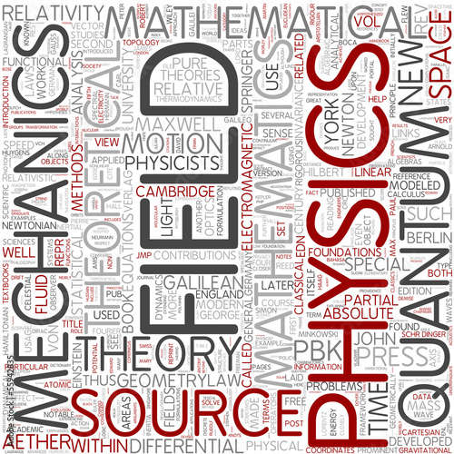 Mathematical physics Word Cloud Concept