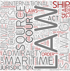 Admiralty law Word Cloud Concept