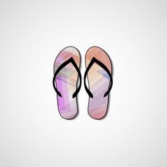 Abstract illustration on flip flops, template editable.
