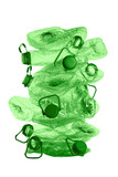 stack of green plastic bottles