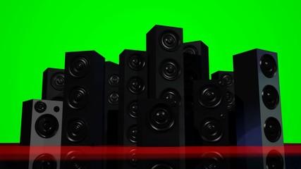 Loudspeakers (Green Screen)