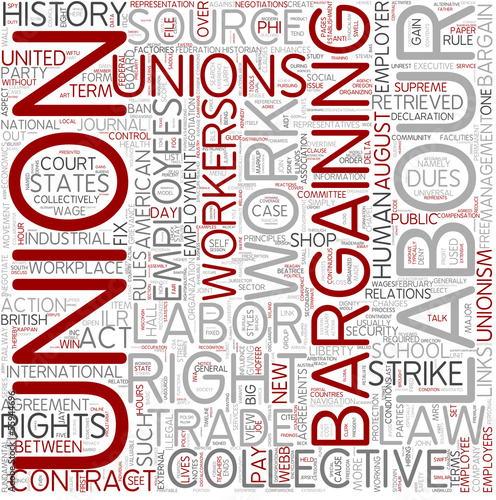 Collective bargaining Word Cloud Concept
