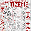 Community organizing Word Cloud Concept