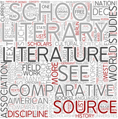 Comparative literature Word Cloud Concept