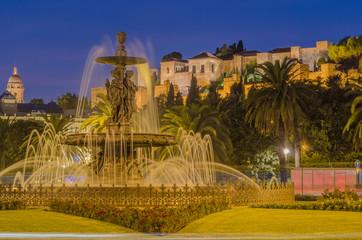 Fuente y Alcazaba Arabe