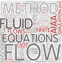 Computational fluid dynamics Word Cloud Concept