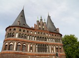 The holsten tower in Lubeck in Germany