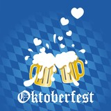In love beer Oktoberfest vector