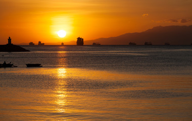 Evening at the Manila Bay