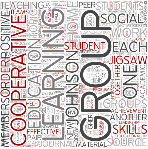 Cooperative learning Word Cloud Concept