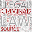 Criminal procedure Word Cloud Concept