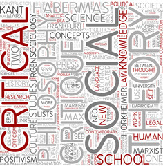 Critical theory Word Cloud Concept