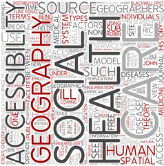 Health geography Word Cloud Concept