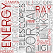 High-energy astronomy Word Cloud Concept
