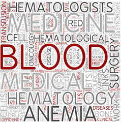 Hematology Word Cloud Concept