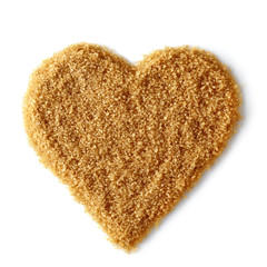 Heart shape of brown sugar