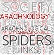 Arachnology Word Cloud Concept
