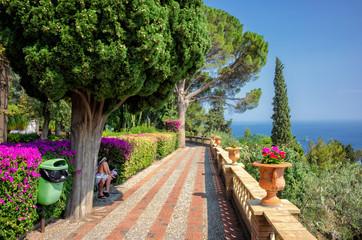 Villa Communale in Taormina, Sicily