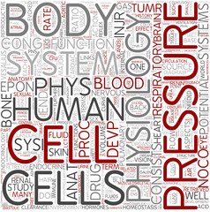 Human physiology Word Cloud Concept
