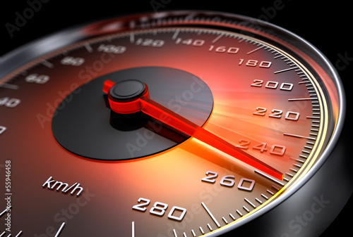 Leinwandbild Motiv Tachometer