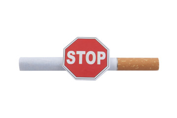 The Stop on the cigarette