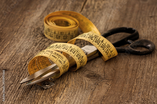 Scissors and measuring tape