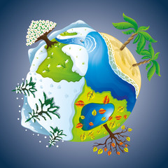 Nature illustration. Seasons.