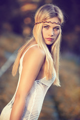 attractive blond woman