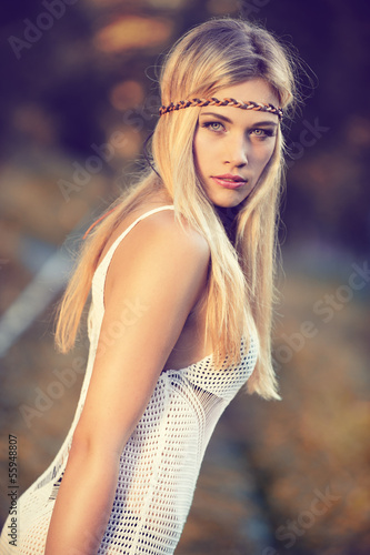 canvas print picture attractive blond woman