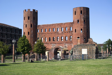 The Palatine Gate (Porta Palatina), Turin