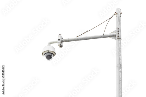cctv camera with background while