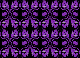 lilac seamless pattern