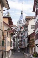 Zug, Altstadt, Ober Altstadt mit Zytturm, Mauerring, Wahrzeichen