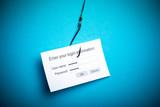 Malware phishing data concept poster