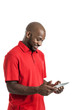 Handsome Black Man with Tablet PC