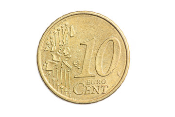 Euro Cent Coins, Isolated