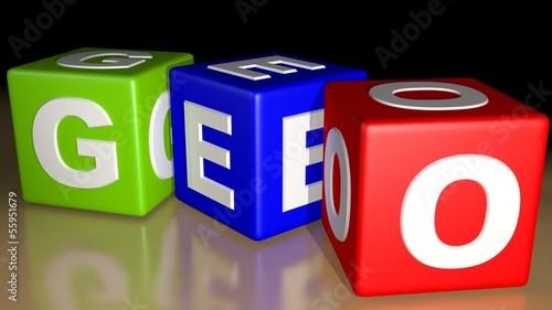 GEO colored cubes