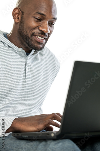 Black Man on Laptop