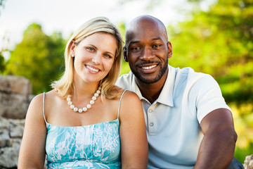 Happy Diverse Couple Portrait