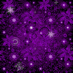 Seamless dark-violet pattern