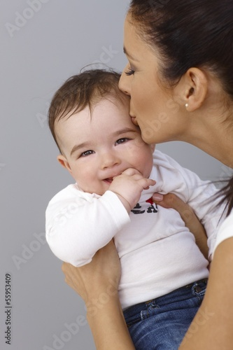 Motherly kiss