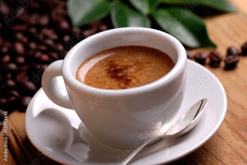 canvas print picture caffè espresso nella tazzina bianca